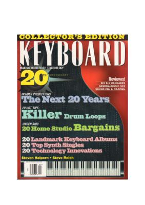 Keyboard Magazine Artist Profile